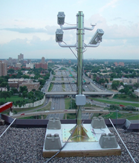 Figure 6. I-94 Field Lab cameras overlooking the High Crash Area