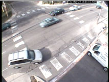 Camera view of intersection.